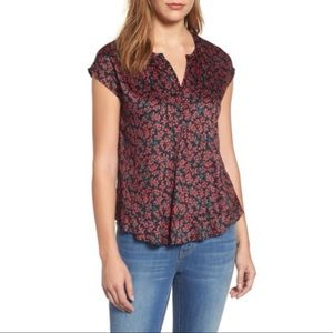Velvet by Graham and Spencer floral ruffle top